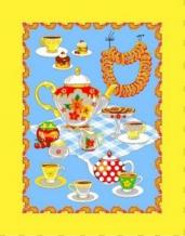 """Полотенце вафельное """"Чай"""" желтый 45*60 купон"""