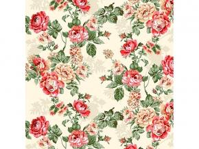 Вафельная -универсал В16 рис 8121/1 Розалия красный ширина 150 см