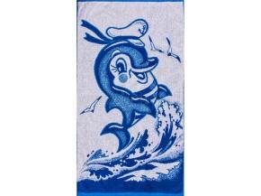 6с103.412ж1 Дельфин-морячок Полотенце махровое 50х90см