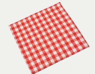 10с608-ШР 33*33 цвет красный Салфетка