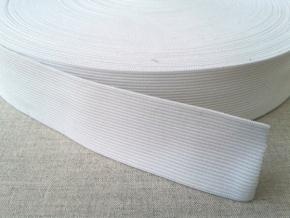 Резинка вязаная 35мм, белая (рул.50м)
