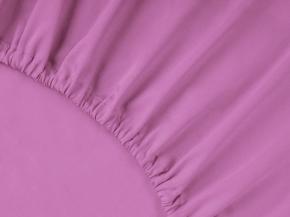 3963-БЧ простыня на резинке 200*160*25 гладкокрашеный сатин цв. св-сирень