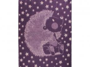 Одеяло п/шерсть 70% 100*140 жаккард  цв. фиолет.