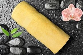 Полотенце махровое Amore Mio GX Classic 33*70 желтый