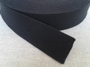 30мм. Резинка ткацкая 30мм, черная (рул.40м)