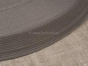 Тесьма вязан.окантовочная 22мм (2,4гр/м) серый св.*340 (рул.100м)