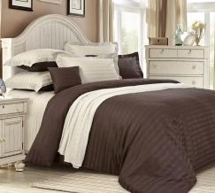 3381W КПБ 2-х спальный сатин-страйп с европростыней Американо