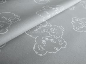 2716-БЧ 1.5 спальный компл. Мишки рис 5041-03 серый