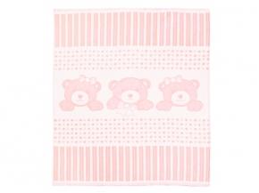 Одеяло хлопковое 90*100 жаккард 19/11 цвет нежно-розовый