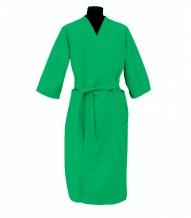 Халат вафельный женский 3/4 р-р 50 зеленый