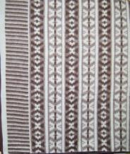 Одеяло п/шерсть 170*205 жаккард цвет коричневый