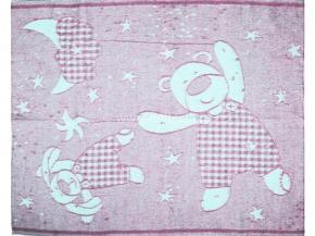 Одеяло п/шерсть 85% 100*140 жаккард цв. розовый