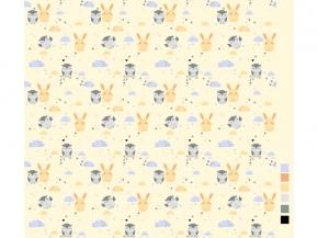 Фланель набивная детская рис. 9855/1, 75 см