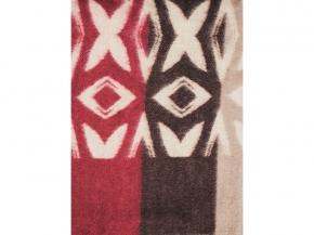 Одеяло п/шерсть 70% 140*205 жаккард цвет бежево-бордовый
