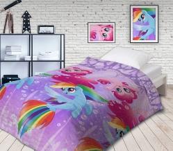 """КПБ 1.5 сп бязь (50*70) """"My little Pony""""  Подводные пони"""