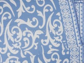 Одеяло хлопковое 170*205 жаккард  3/22 Завиток цвет голубой