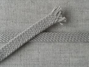 6640 ШНУР 100% хлопок (плоский), серый 9мм (рул.100м)
