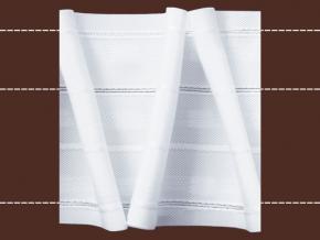9347 ЛЕНТА ДЛЯ ШТОР белый 85мм, вафельная-перевертыш (рул.50м)