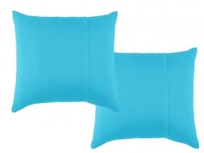 Набор наволочек трикотажных (2 шт) 70*70 цвет голубой