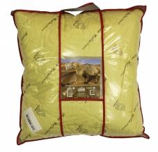 Подушка тик полиэфирный/ 2-х  камерная/ стежка/верблюжья шерсть 60*60