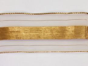 8537 ЛЕНТА ОТДЕЛОЧНАЯ белый с золотом 55мм (рул.100м)