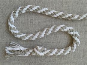 ШХ8-008-2/3 Шнур, D-8мм, х/б 100%, белый/серый