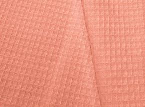 Полотенце вафельное банное 80*150 цвет персик