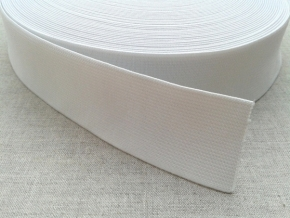 40мм. Резинка вязаная 40мм, белая (рул.50м) арт.20с10