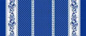 Набивное вафельное полотно рисунок Гжель 230 с1 синий ширина 150 см