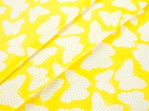 Бязь набивная плательная рисунок 1792/1 желтый  ширина 150см