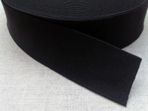 40мм. Резинка ткацкая 40мм, черная (рул.20м)