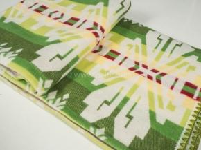 Одеяло хлопковое 140*205 жаккард 37/13 цвет зеленый