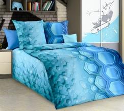 1100 КПБ 1.5 спальный Свечение цв. голубой