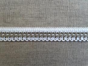 П-018-23-2/3 Тесьма отделочная 18 мм, белый/льняной (Хл-90%, ПЭ-10%)