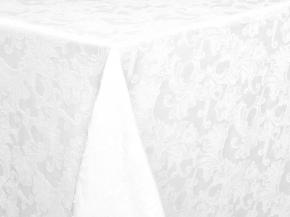 """Ткань скатертная арт.14С7SHT """"Мирелла"""" рис.004 цвет 010101 белый, ширина 310 см"""