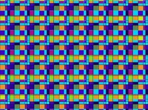 Вафельное полотно В16 рис. 4991/3 Клетка синий, 150см