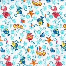 Ситец б/з рис 18695/1 Подводный мир, ширина 95см