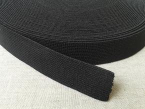 20мм. Резинка ткацкая 20мм, черная (рул.20м)