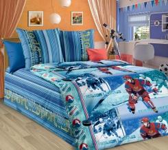 1130  КПБ  1.5 спальный  рисунок  Хоккей