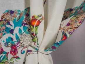 08С341-ШР/пн.цп.+МХУ 1/320 Ткань костюмная, ширина 150см, лен-100%