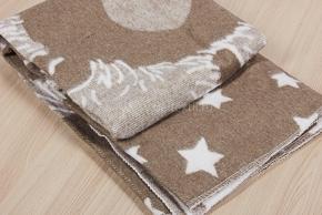 Одеяло хлопковое 100*140 жаккард  цв.темно-серый