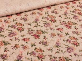 Полулен скатертной арт. 3-18 рис. 1107/1 Вальс цветов, ширина 150см
