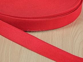 20мм. Резинка вязаная 20мм, красный (рул.25м)