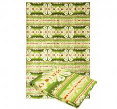 Одеяло хлопковое 170*205 жаккард 37/13 зеленый