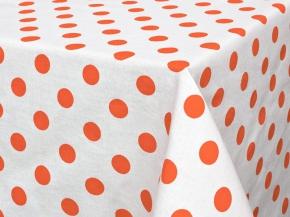 """Скатерть 145*150 """"Горошек"""" цвет оранжевый"""