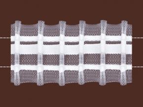 40мм. 0С797ПЭ-Г50 ЛЕНТА ДЛЯ ШТОР белый 40мм, параллельная (рул.50м)