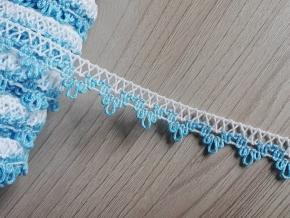 14мм. 6311 ТЕСЬМА ОТДЕЛОЧНАЯ белый с голубым 14мм (рул.50м)