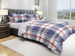 "КПБ ECO-cotton 215*145 ""Grid BL"""