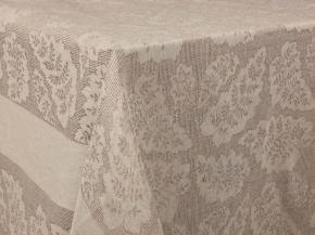 Ткань скатертная арт 171420 п/лен п/вареный жаккард рис 1*725/02 Папоротник, ширина 160см