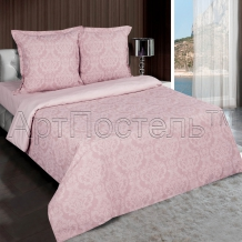 Поплин рис.9866-1 Византия розовый, ширина 220см